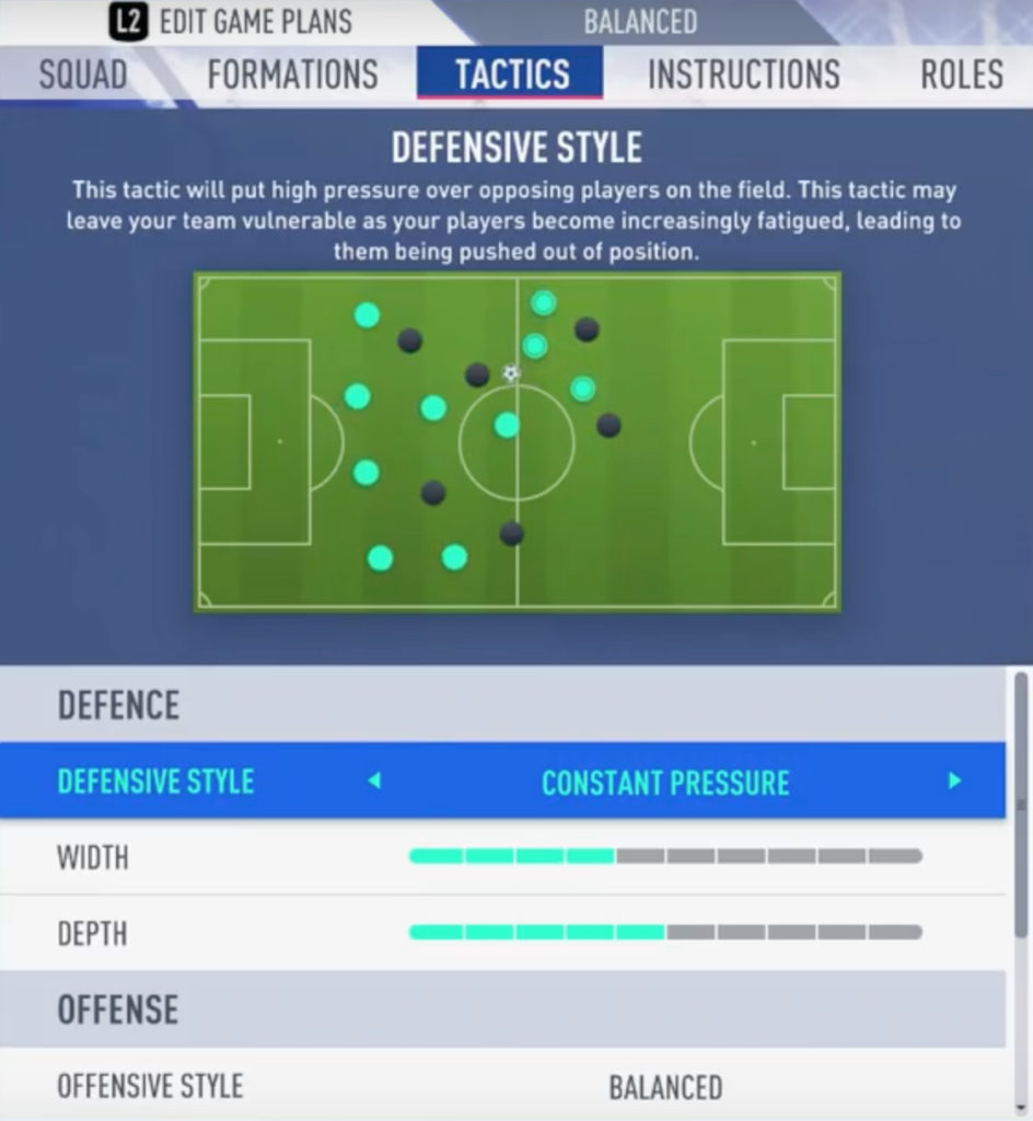 FIFA 20 Defending with High Pressure